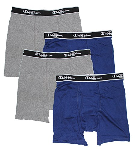 Champion Men's Elite X-Temp Boxer Briefs (X-Large, Blue/Grey) (Champion Active Boxer Briefs compare prices)