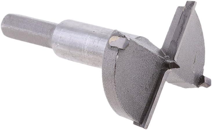 55mm MagiDeal Fraise /à Bois Carbure M/èche /à Fa/çonner 15-100mm Foret de Per/çage pour Bois Plastique