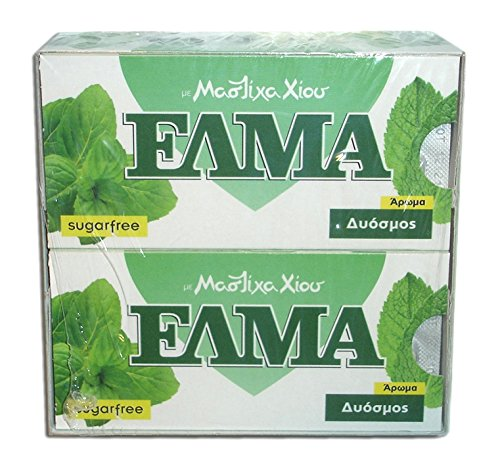 Chios Elma Mastic Gum Spearmint Flavor 20x10 Pieces / 20x14gr - From 100% Fresh Original Xios (Masticha or Mastixa)