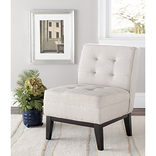 Safavieh Mercer Collection Alexa Ivory Linen Armless Club Chair (Armless Club Chair)