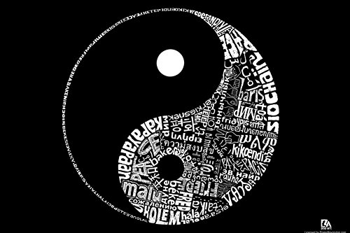Yin Yang Text Poster 24 X 36In