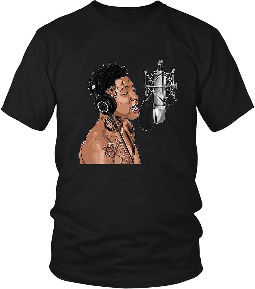 dda1da30a226 Amazon.com: Feeling Unique YoungBoy Never Broke Again Mens Tee Short Sleeve  Funny T Shirt Black 3XL: Clothing