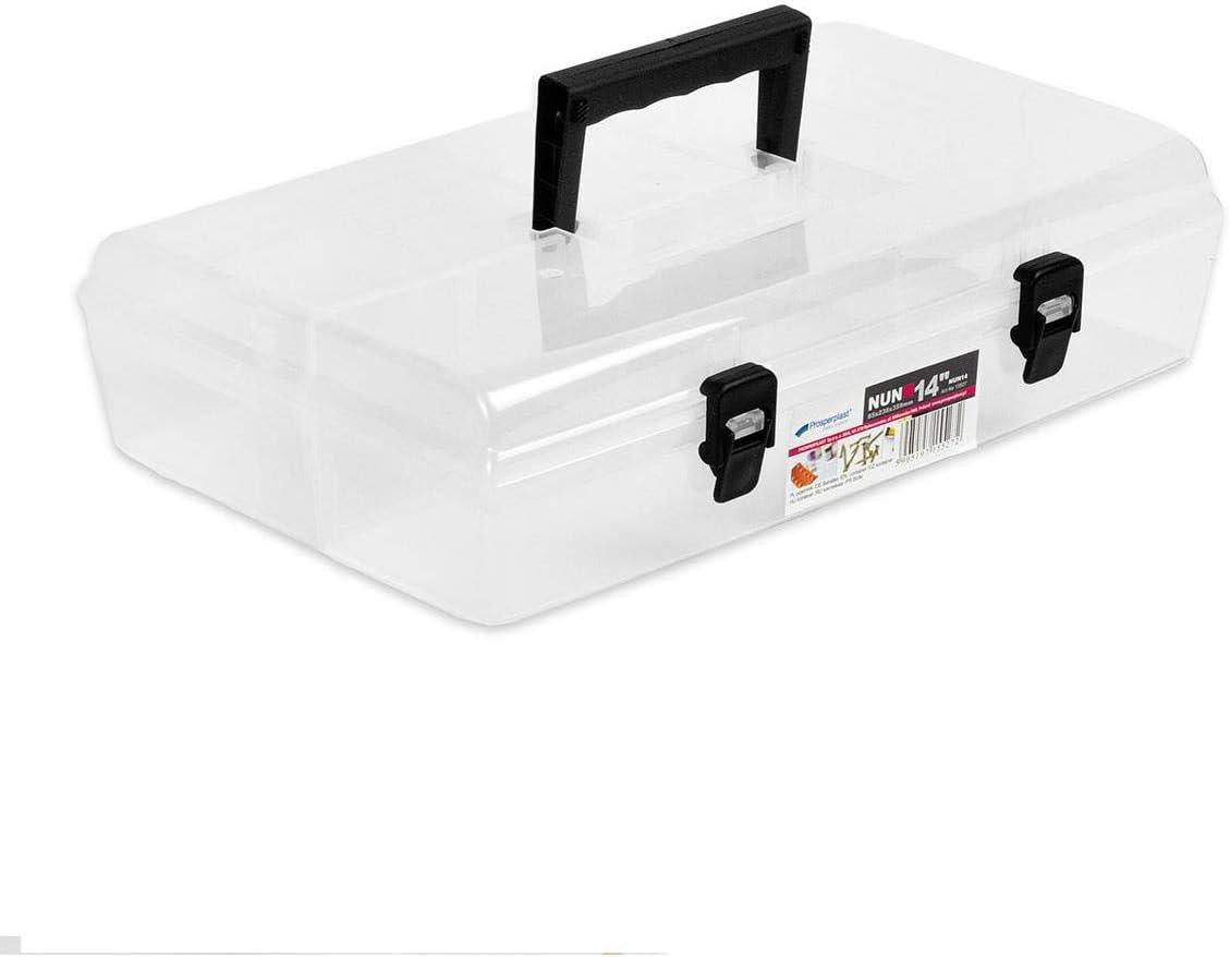 35.56 cm para piezas pequeñas cajas de plástico transparente caja de enchufes Sortierksten{6}: Amazon.es: Bricolaje y herramientas