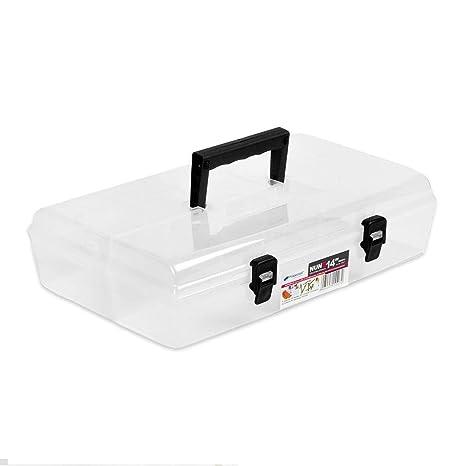 35.56 cm para piezas pequeñas cajas de plástico transparente caja de enchufes Sortierksten{6}