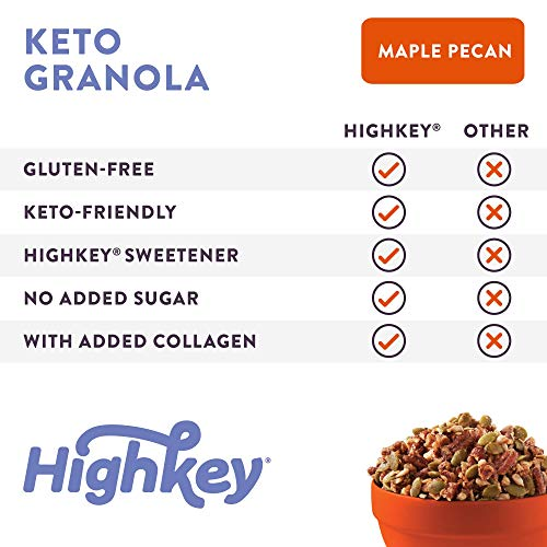HighKey Keto Food Low Carb Granola Cereal & Clusters - Gluten Free Snacks & Breakfast Foods - Treats - Zero Added Sugar, High Protein Nut Snack - Diabetic, Paleo Healthy Diet Friendly Products 6