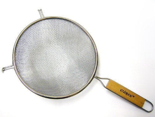 Winco MS3A-8D Strainer with Double Fine Mesh, 8-Inch Diameter, Set of 3