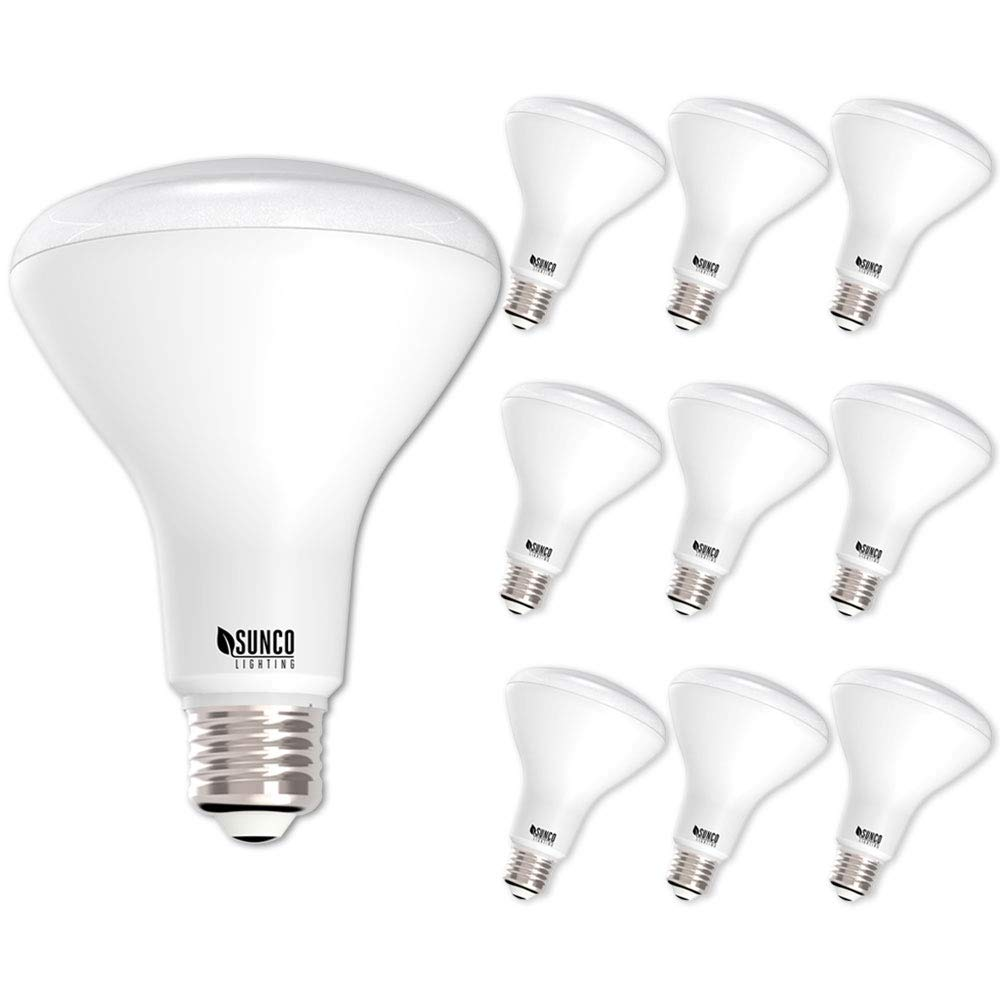 Sunco Lighting 10 Pack BR30 LED Light Bulb 11 Watt (65 Equivalent) Flood Dimmable 3000K Kelvin Warm White 850 Lumens Indoor/Outdoor 25000 Hrs For Use In Home, Office And More UL & ENERGY STAR LISTED