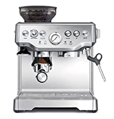 The barista express. A barista will quickly tell you that the most important ingredient to deliver an amazing espresso is to use fresh beans and to grind them as close to the time of use as possible. The in-built conical burr grinder allows y...