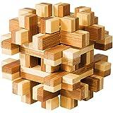 Fridolin 17493 - Rompecabezas de bambú