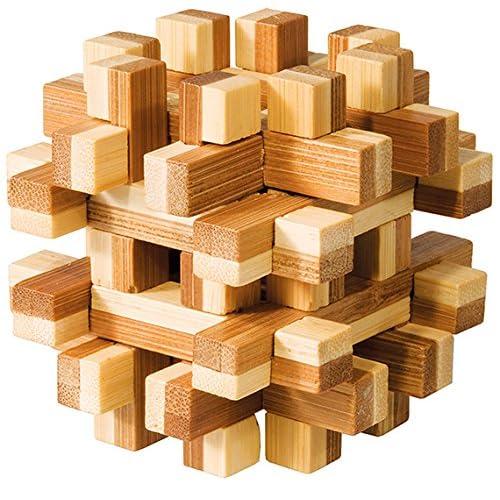 Fridolin 17493 - Puzzle - Casse Tête Bambou - Bloc Magique