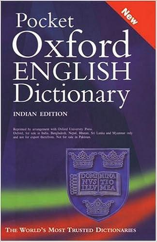 Pocket Oxford English Dictionary 10th Edition price comparison at Flipkart, Amazon, Crossword, Uread, Bookadda, Landmark, Homeshop18