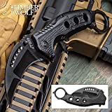 Timber Wolf Black Finish Karambit Pocket Knife For Sale