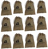 HomeStrap™ Shoe Pouch/ Bag/ Organiser - Beige - Set of 12