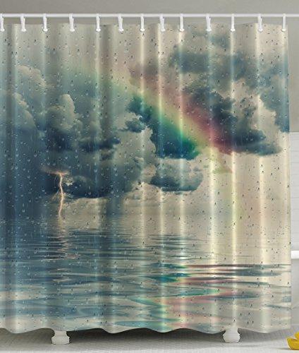 Ambesonne Rainy Scene Mystic Abstract Artwork Art by, Prints
