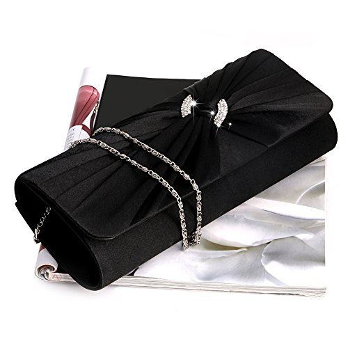 Women Clutch Red Chain Bling Rhinestone Bridal Evening White Bag Purse Handbag Shoulder Shoresu Zn8ptU6qw
