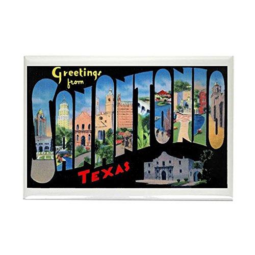 CafePress San Antonio Texas Greetings Rectangle Magnet, 2