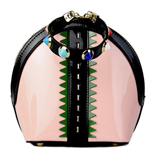 KYOKIM Mesdames Véritable Cuir Mini Chaîne Sac À Main Femmes Épaule Bandoulière Messenger Bag Embrayage Shell Paquet Porte-Monnaie Pink