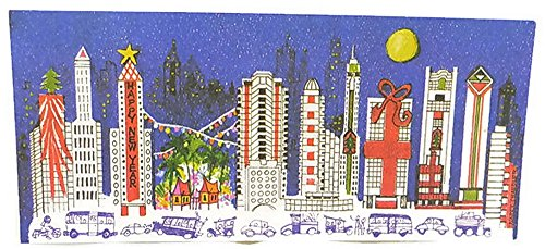 Holiday Greeting Cards Bangkok City Skyline at Night - 5 Pack