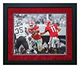 "Todd Gurley Aaron Murray Autographed and Custom Framed ""The Handoff"" 16x20 Georgia Bulldogs Picture"