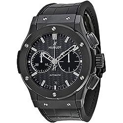 Hublot Classic Fusion Chronograph Automatic Black Dial Black Rubber Mens Watch 521CM1770LR