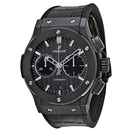 Hublot Classic Fusion Chronograph Automatic Black Dial Black Rubber Mens Watch 521CM1770LR