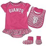 MLB San Francisco Giants Infant Girls Bib & Booty Set, 12 Months, Poster Pink