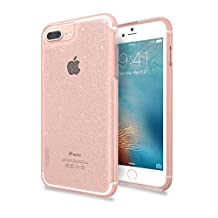 Skech SK38-MTX-RSPK Matrix Protective Clear Glitter Case for iPhone 7 Plus (6+/6s+ compatible), Rose Sparkle