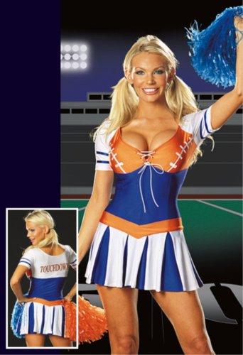 [Touchdown Tease Costume - Medium - Dress Size 6-10] (Touchdown Adult Costumes)