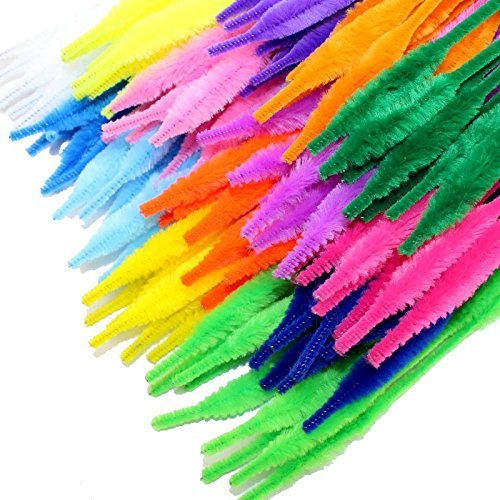 KINGLAKE 120 Pcs Colored Craft Pipe Cleaners Bump Chenille Stems 12 Colors For Creative Handmade Diy Art Craft,Ornaments,Kids