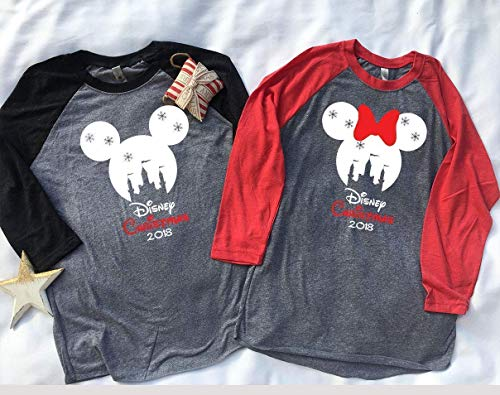 Handmade Christmas Family Disney world shirts 2018, Disney Family Shirts, Matching Family Disney Shirts, Personalized Disney Shirts for Family]()