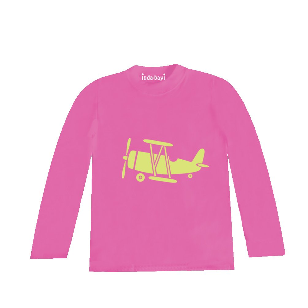 Inda-Bayi Baby-Toddler-Kids Cotton Long Sleeve T Shirt Biplane