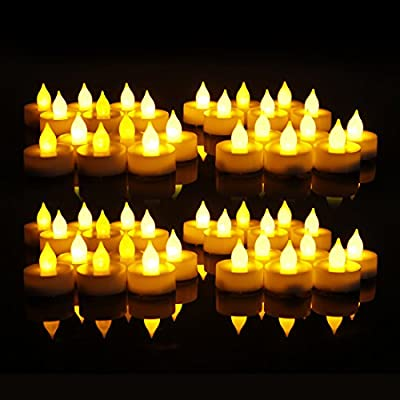 EverBrite Battery Operated Flickering Flameless LED Tea Light Candles 48-pack