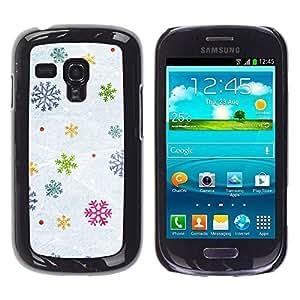 TopCaseStore / la caja del caucho duro de la cubierta de protección de la piel - Snow Winter Gift Christmas - Samsung Galaxy S3 MINI NOT REGULAR! I8190 I8190N