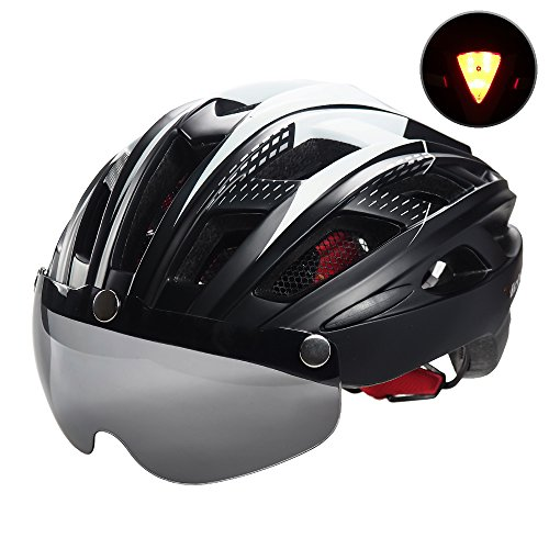 VICTGOAL Bike Helmet for Men Women with Safety Led Back Light Detachable Magnetic Goggles Visor Mountain & Road Bicycle Helmets Adjustable Adult Cycling Helmets – DiZiSports Store