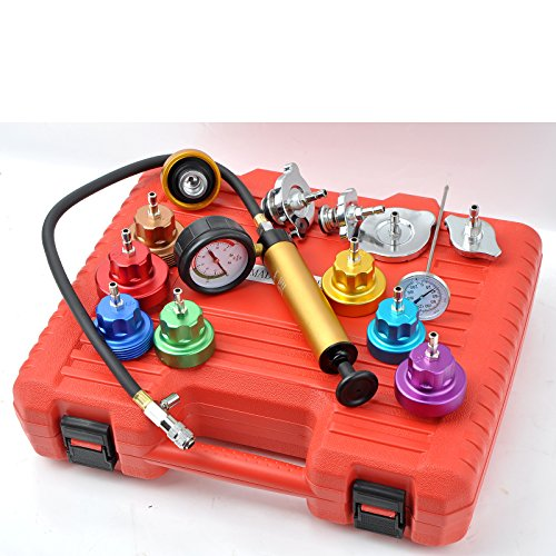Generic Auto Cooling System Radiator Color Cap Pressure Tester Kit Pump Gauge Adapter HD by WIN.MAX (Image #5)