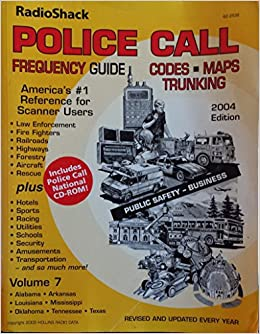 Radio Shack Police Call Frequency Guide, Codes, Maps, Trunking, 2004