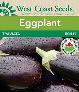 Eggplant Seeds - Traviata Organic