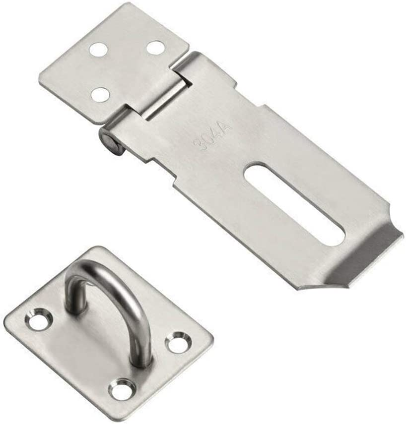 "HASP AND STAPLE Stainess steel Door Latch Padlock Catch Garden Shed Coop  2/""-5/"""