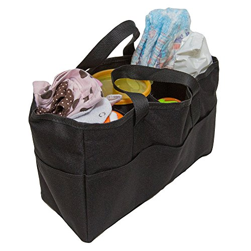 (Diaper Bag Insert Organizer for Mom with 5 Outside & 6 Inside Storage Pockets - Transform Any Mom's Purse, Handbag, Backpack, Or Tote Bag)