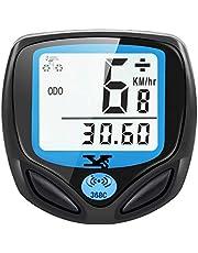 DINOKA Digitale fietscomputer, draadloos, waterdicht, draadloos, kilometerteller met automatisch wakker worden en lcd-achtergrondverlichting