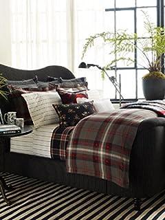 c5354835b7 Set of 2 Ralph Lauren King Pillowcases West Village Ellery/ Cream-Black 100%