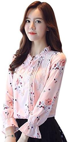 XXIN Camiseta Mujer Camiseta Long-Sleeved Pajarita Sello Camisa Pequeño Manguito A La Bocina,XXL, Camisa Rosa: Amazon.es: Deportes y aire libre