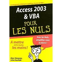 Access 2003 & vba.. nuls megapoche