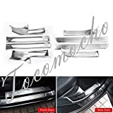 tocomocho 8PCs Silver Door Sill Scuff Plate Guard Mouldings Protector Trim Fits for Acura RDX 2019+