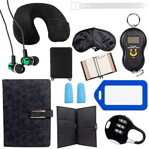 Samsonite Omni Hardside Nested Luggage Spinner Set, Silver w/ 10pc Accessory Kit