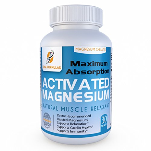 DNA Formulas Maximum Magnesium Citrate, Glycinate and Malate - Patented Delivery System for Maximum Absorption with Minimum Side Effects - Improves Muscle Energy & Relaxation - 60 Capsules