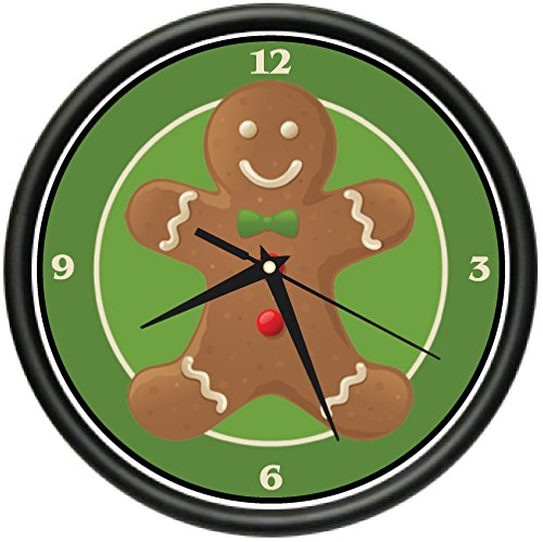 GINGERBREAD MAN Wall Clock christmas baking cookie bakery business gift