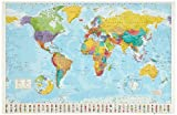 Laminated World Map Poster 36 x 24in Picture