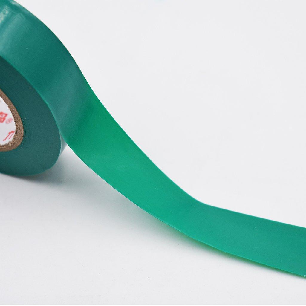Vektenxi 1 Rolle Praktisches Elektriker-Isolierband Wasserdichtes Klebeband mit hoher Viskosit/ät gr/ün, 18 mm