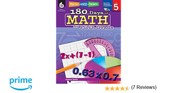 Amazon.com: 180 Days of Math for Fifth Grade (180 Days of Practice ...